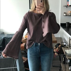 Nordstrom Tops - Nordstrom B.P. Purple bell sleeve top size small
